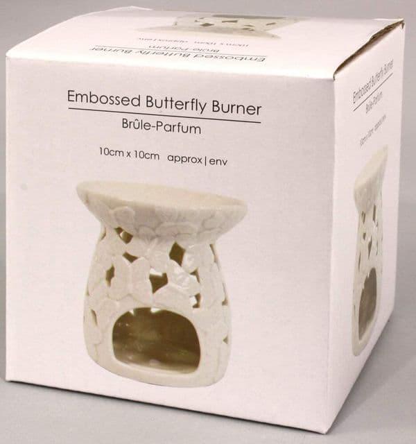 Home Butterfly Oil Burner Wax Melts Tea Light Holder Ceramic Ornament Gift 9x10cm